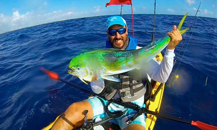 How to fish from a kayak in the open Sea?