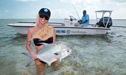Pescando en los bajos de Bimini, Bahamas